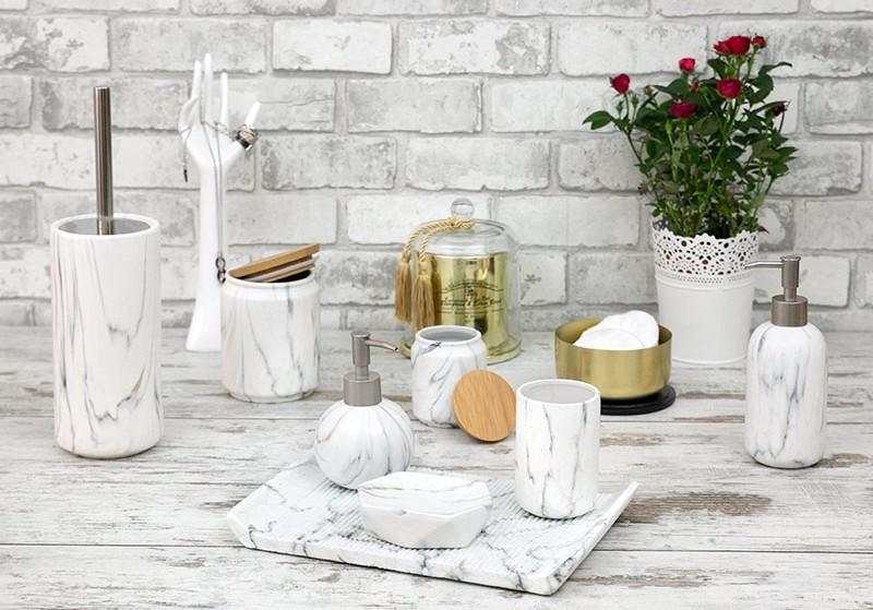 zestaw łazienkowy marmur StylDekor