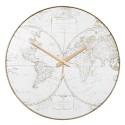 ZEGAR ŚCIENNY Z LUSTREM 45cm ZŁOTY WORLD MAPA