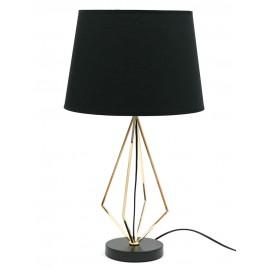 LAMPA STOŁOWA 60cm ZŁOTA CZARNA METALOWA