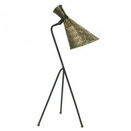 LAMPA STOŁOWA STARY ZŁOTY 78x28cm METALOWA