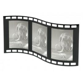 RAMKA NA 3 ZDJĘCIA 13x18cm CZARNA STOJĄCA POTRÓJNA KLISZA FILMOWA 44X23