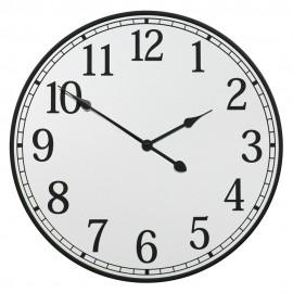 ZEGAR ŚCIENNY Z LUSTREM 50cm LUSTRZANY NOWOCZESNY CYFRY ARABSKIE CLOCK