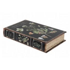 PUDEŁKO KSIĄŻKA DREWNIANA OTWIERANA 25x17cm CZARNA SZKATUŁKA BOX BOOK
