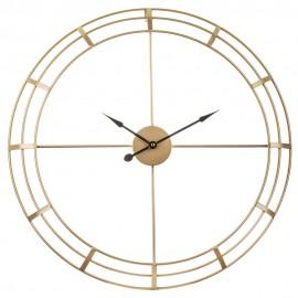 ZEGAR ŚCIENNY ZŁOTY LOFT 60cm METALOWY AŻUROWY NOWOCZESNY OKRĄGŁY CLOCK