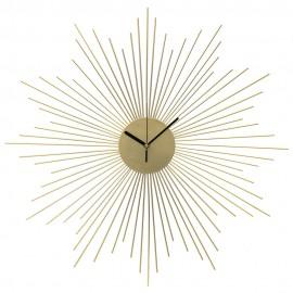 ZEGAR ŚCIENNY ZŁOTY SŁOŃCE 60cm METALOWY DEKORACJA ŚCIENNA CLOCK GOLD