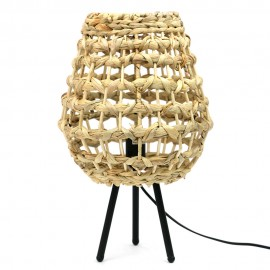 LAMPA WIKLINOWA h-45cm ABAŻUR WIKLINA STYL BOHO LAMPKA NOCNA METALOWA