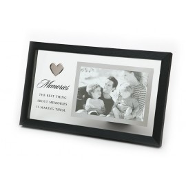 RAMKA DREWNIANA MEMORIES CZARNA NA ZDJĘCIE 10x15cm