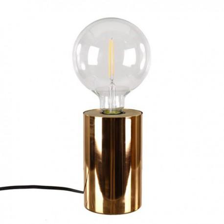 LAMPA STOŁOWA BIURKOWA MIEDZIANA 15x10 cm OKRĄGŁA LAMPKA NOCNA MIEDŹ