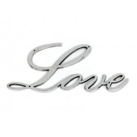 """NAPIS PRZYKRĘCANY """"LOVE"""" ŚCIENNY 44cm SREBRNY"""