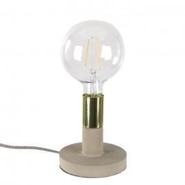 LAMPA STOŁOWA BETONOWA ZŁOTA H-15cm