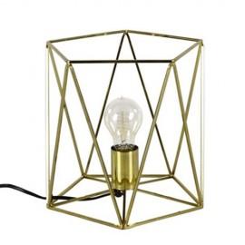 LAMPA STOŁOWA ZŁOTA 25x25cm