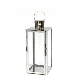 LAMPION SREBRNY METALOWY POLEROWANY wys. 48cm