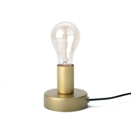 LAMPA STOŁOWA ZŁOTA METALOWA h 12cm LAMPKA NOCNA E-27 BEZ KLOSZA NOWOCZESNA
