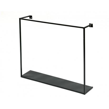 Półka Czarna ścienna Metalowa 45x40cm Nowoczesna Przykręcana Wisząca