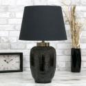 LAMPA STOŁOWA CZARNA BRĄZOWA MOSIĘŻNA h-60cm