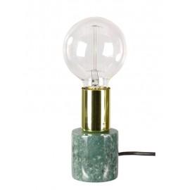LAMPA STOŁOWA MARMUROWA ZIELONA ZŁOTA h-13cm MARMUR LAMPKA NOCNA E-27
