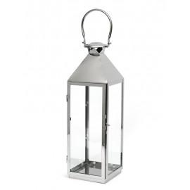 LAMPION SREBRNY METALOWY POLEROWANY h-65cm