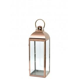LAMPION MIEDZIANY METALOWY 41cm LATARNIA POLEROWANY 40cm NOWOCZESNY