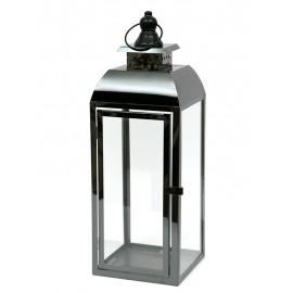 DUŻY LAMPION METALOWY CZARNY 65cm NOWOCZESNY LATARNIA POLEROWANY
