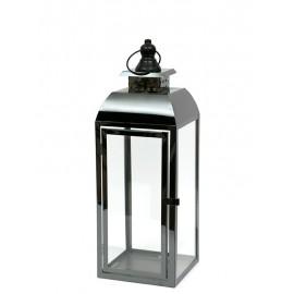 LAMPION METALOWY CZARNY 52cm NOWOCZESNY LATARNIA POLEROWANY 50cm