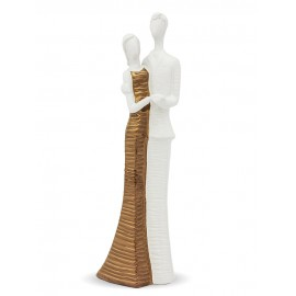 Figurka Para Biała Zlota 40cm