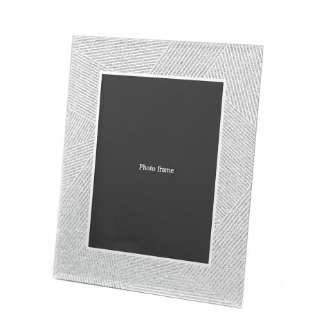 RAMKA LUSTRZANA Z BROKATEM SREBRNA NA ZDJĘCIE 13x18cm GLAMOUR Z LUSTER