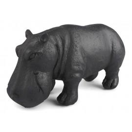 FIGURKA HIPOPOTAM CZARNA 18cm